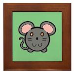Gray Mousie Framed Tile