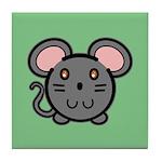 Gray Mousie Tile Coaster