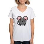 Gray Mousie Women's V-Neck T-Shirt