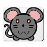 Gray Mousie Mousepad