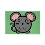 Gray Mousie Rectangle Magnet