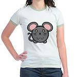 Gray Mousie Jr. Ringer T-Shirt