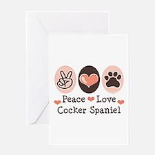 Peace Love Cocker Spaniel Greeting Card