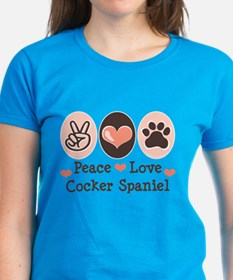 Peace Love Cocker Spaniel Tee