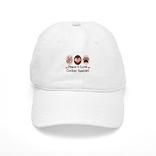 Peace Love Cocker Spaniel Baseball Cap