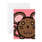 Brown Mousie Greeting Cards (Pk of 20)