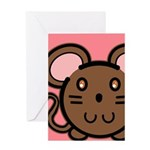 Brown Mousie Greeting Card