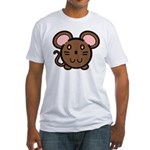 Brown Mousie Fitted T-Shirt