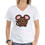 Brown Mousie Women's V-Neck T-Shirt
