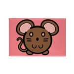 Brown Mousie Rectangle Magnet