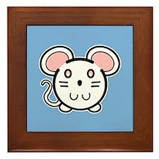 Cute Mousie Framed Tile