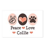Peace Love Collie Postcards (Package of 8)