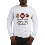 Peace Love Curly Retriever Long Sleeve T-Shirt