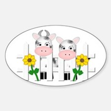 Cute Cows Oval Decal