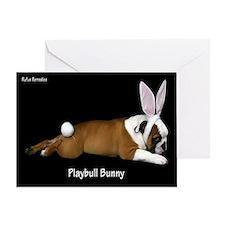 Playbull Bunny Greeting Card