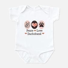 Peace Love Dachshund Infant Bodysuit
