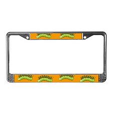 Green Caterpillar License Plate Frame