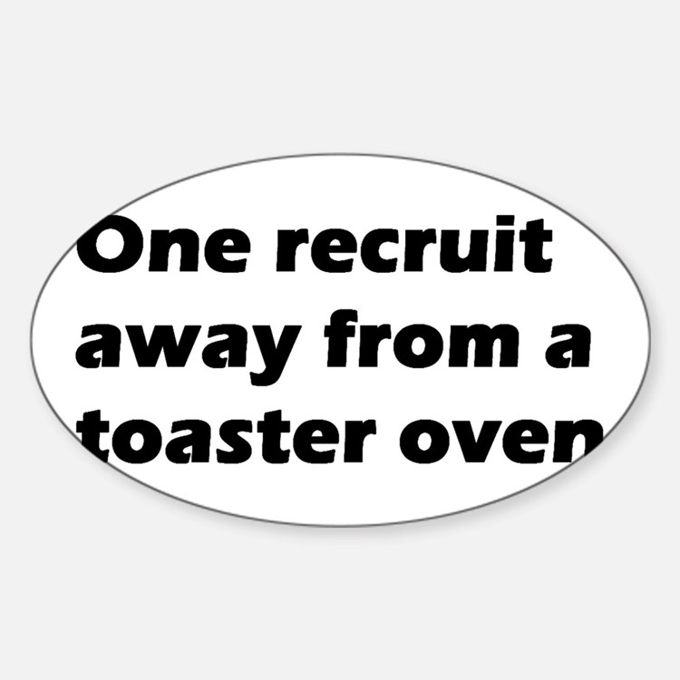 Toaster Oven Oval Decal