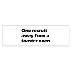 Toaster Oven Bumper Bumper Sticker