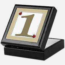 Number 1 Keepsake Box