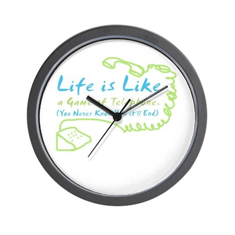 Life Telephone Wall Clock