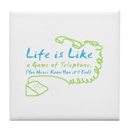 Life Telephone Tile Coaster