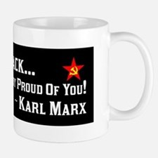 """Karl Marx: Proud Of Barack"" Mug"