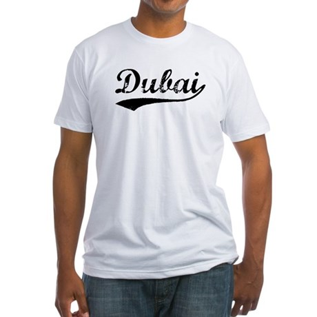 Vintage Dubai (Black) Fitted T-Shirt