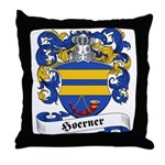 Hoerner Family Crest Throw Pillow