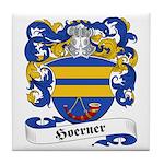 Hoerner Family Crest Tile Coaster