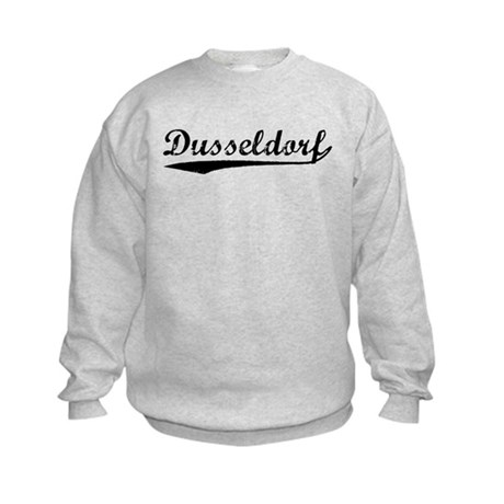 Vintage Dusseldorf (Black) Kids Sweatshirt