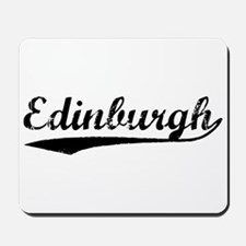 Vintage Edinburgh (Black) Mousepad