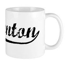 Vintage Edmonton (Black) Small Mugs
