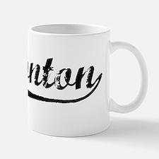 Vintage Edmonton (Black) Small Mugs