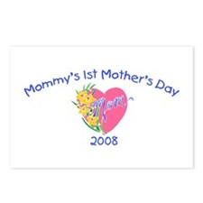 Mommy's 1st Mother's Day 2008 (Heart) Postcards (P