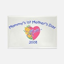 Mommy's 1st Mother's Day 2008 (Heart) Rectangle Ma