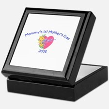 Mommy's 1st Mother's Day 2008 (Heart) Keepsake Box