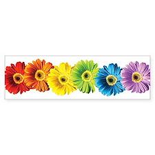 Rainbow Daisies Bumper Bumper Sticker