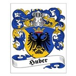 Huber Family Crest Small Poster