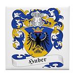 Huber Family Crest Tile Coaster
