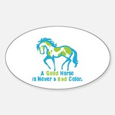 A Good Horse Oval Decal