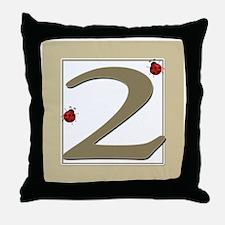 Number 2 Throw Pillow