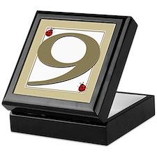 Number 9 Keepsake Box
