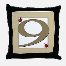 Number 9 Throw Pillow