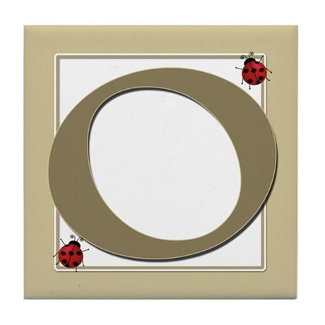 Number 0 Tile Coaster