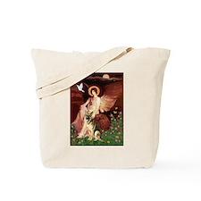 Seated Angel / German Shepherd Tote Bag