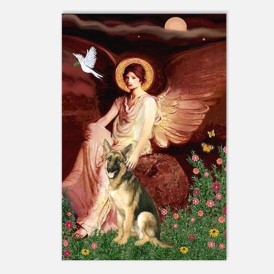Seated Angel / German Shepherd Postcards (Package