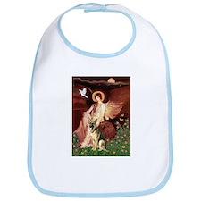 Seated Angel / German Shepherd Bib