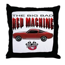 Mustang - The Big Bad Red Mac Throw Pillow