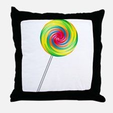Swirly Lollipop Throw Pillow